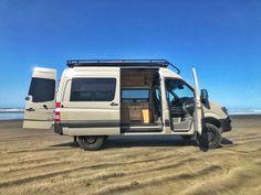 DIY camper van: Elegant bamboo kits cost just $18K - Curbed Van Conversion Kits, Diy Van Conversions, Van Conversion Interior, Sprinter Van Conversion, Camper Van Conversion Diy, Camper Van Conversion Companies, Build A Camper, Diy Camper, Truck Camper