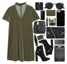 """""""Untitled #918"""" by clary94 ❤ liked on Polyvore featuring MANGO, Topshop, Yves Saint Laurent, Ray-Ban, Casetify, Fujifilm, NARS Cosmetics, STELLA McCARTNEY and Serge Lutens"""