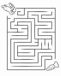 Labirinto con coniglio e carota