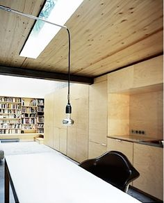This is where our kitchen thoughts seem to be settling - natural birch ply veneer throughout. Use an expanse of the material.