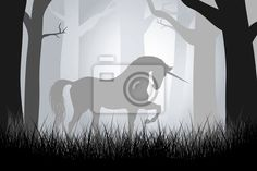 Wall Mural fairy unicorn in the forest Unicorn Wall, Mural Ideas, Room Themes, New Room, Kids Rooms, Unicorns, Wall Murals, Poppy, Iris