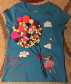 Emma's 100 Days of School shirt. Handmade by mommy and Emma.