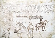 Sketches of John VIII Palaiologos during his visit at the council of Florence in 1438 by Pisanello. Fall Of Constantinople, Italian Renaissance Art, Florence Art, Byzantine Icons, Medium Art, Middle Ages, Vintage Images, Cover Photos, Oeuvre D'art