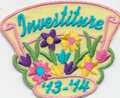Girl Investiture '13 '14 2013 2014 Ceremony Fun Patches Crest Badge Scouts Guide | eBay