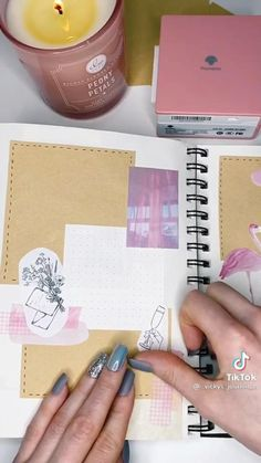 Bullet Journal Lettering Ideas, Bullet Journal Notebook, Bullet Journal School, Bullet Journal Aesthetic, Scrapbook Journal, Bullet Journal Inspiration, Journal Prompts, Tik Tok, Check