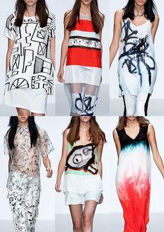 Zoe Jordan ss14 #popart #fashion #art