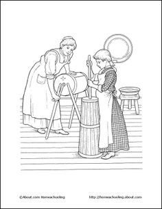 Kid coloring pages of Prairie schooners #westwardho #