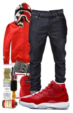 Sneakers have already been a part of the world of fashion for more than you might think. Today's fashion sneakers carry little resemblance to their early predecessors however their popularity remains undiminished. Dope Outfits For Guys, Swag Outfits Men, Stylish Mens Outfits, Tomboy Outfits, Teen Boy Fashion, Mens Fashion, Hypebeast Outfit, Sneakers Fashion, Red Sneakers