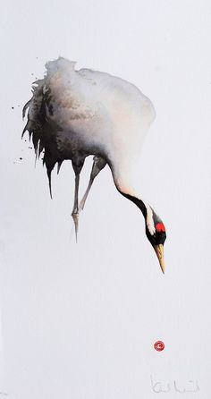 White in watercolor: this is how you create white areas- Weiß im Aquarell: So schaffst du weiße Flächen Karl Martens - Watercolor Animals, Watercolor And Ink, Watercolour Painting, Japanese Watercolor, Watercolor Trees, Watercolor Portraits, Watercolor Landscape, Painting & Drawing, The Animals