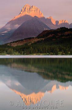 Mt. Wilbur, Swiftcurrent Lake, Glacier National Park, Montana, USA