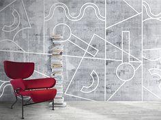 Geometric washable synthetic material wallpaper SENSO by N.O.W. Edizioni design PIETRO GAETA, alessandro mendini