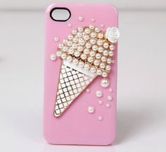 pink ice cream  iphone 4 case cover iphone 4s case by lisakingcase, $17.00