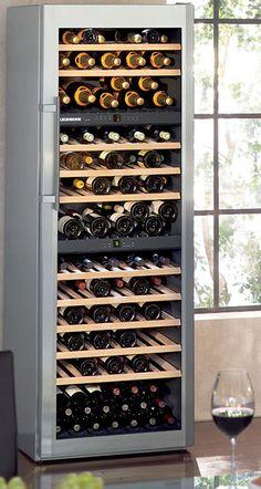 Liebherr wine refrigerator with three temperature zones