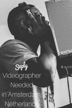 #Videographer needed to shoot a #music #video in #Amsterdam #Netherlands. The #artist is an American #hiphop #artist who is currently visiting and would like a #video made. See the video job and apply by clicking the pin!