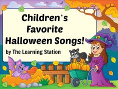 FREE Halloween Music Videos! Learn how to do the fun moves to these popular children's Halloween songs. These songs can be shared at your morning meeting to enhance your Halloween theme. They are also great for circle time, group activities, brain breaks and indoor recess.  And they make great songs for children to perform during your holiday family night. #Halloween