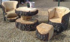 Мебель из стволов дерева