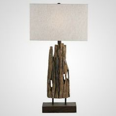 Rectangular Driftwood Lamp - Not crazy about the shade, but the lamp is beautiful!