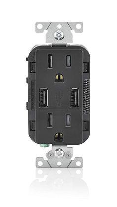 Leviton T5632-E 15-Amp USB Charger Tamper Resistant Duplex Receptacle 5e1c12d0d