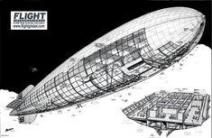 Hindenburg LZ129 Airship Cutaway