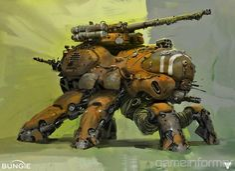 Bungie's Destiny Spider tank artwork.......hard suckers to take down!!