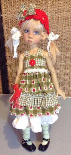 Dress set with Rag dolly~Fits Kaye Wiggs MSD body Layla/Miki etc~by DCH