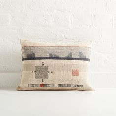 Ladder Detail Cushion, Rectangle by Susie Gillespie