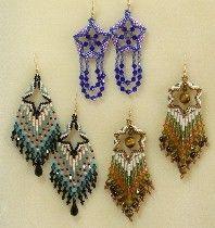 Dimensional Earring Set Pattern by Paula Adams!
