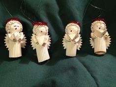 Noodle Angel Christmas Tree Ornaments