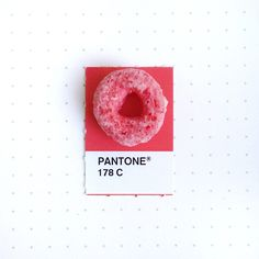 Did you have a burning desire to know the exact color of fruit loops? Inka Mathew comes to the rescue with her whimsical series of tiny Pantone matches.
