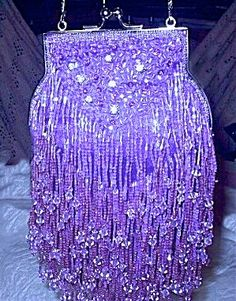 beaded amethyst purse