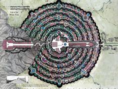 """elOrdenMundial S.XXI en Twitter: """"Para los amantes de la Tierra Media. La ciudad de Minas Tirith vista desde el aire. (Vía @reddit )… """""""