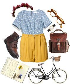 biking on a sunny spring day