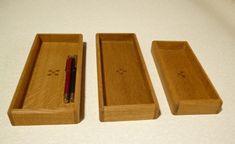 木のペン皿