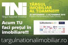 Târgul Național Imobiliar va avea loc în perioada 30 septembrie - 2 octombrie la…