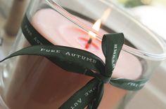 Maak je kaarsen speciaal met een herfst lint van Nominette