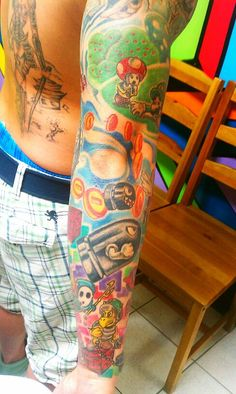 duong nguyen - wayofink.com    more of nintendo tattoo