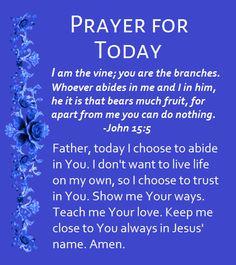 Prayer For Today good morning good morning images good morning pic good morning prayer Prayer Of Praise, Prayer For The Day, Prayer Verses, God Prayer, Prayer Quotes, Power Of Prayer, Daily Prayer, Healing Prayer, Faith Quotes