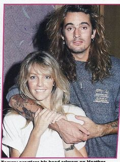 Heather Locklear and Tommy 80s Rock Fashion, Tommy Lee Motley Crue, Heather Locklear, 80s Hair Bands, Vince Neil, Colson Baker, Glam Metal, Star Wars, Nikki Sixx