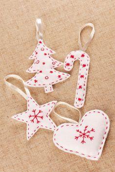 Download Decorazioni Di Natale Del Feltro Di Bianco Fotografia Stock - Immagine: 28083568