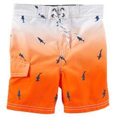 OshKosh Ombré Shark Print Swim Trunks