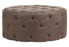 A comfy ottoman could be perfect for my vanity/dressing room! One Kings Lane - Small-Space Soiree - Erik Ottoman Perry Homes, Cozy Sofa, Tufted Ottoman, Global Style, One Kings Lane, Home Accents, Furniture Decor, Accent Decor, Small Spaces
