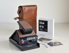POLAROID SX70 camera MODEL 2 / Black leather by NellysVintageShop, €145.00