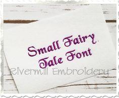 "$2.95Small Mini Fairy Tale Machine Embroidery Font Alphabet - 1/2"""
