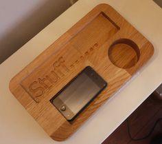 Personalised Solid Oak Desk Tidy Organiser, by Etonoak on Folksy, £45.00