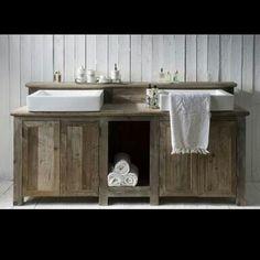 meuble de salle de bains à base de palettes:bluffant!