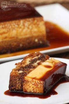 Bizcoflan thermomix - Sponge cake and creme brulee thermomix Thermomix Desserts, No Bake Desserts, Delicious Desserts, Cake Flan, Sweet Recipes, Cake Recipes, Flan Recipe, Food Cakes, Sweet Tooth