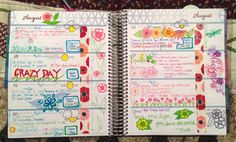 Erin Condren Life Planner horizontal layout. This is how it works!