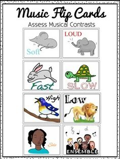 Music Flip Card Bundle, Kinders show/move their cards to the music