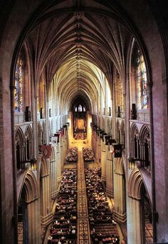 Interior of the National Cathedral in Washington D.C.