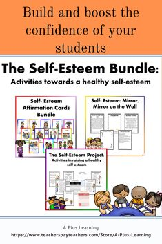 This self-esteem bundle is a compilation of different activities to help your students have a positive and healthy self-esteem. School Resources, Classroom Resources, Teacher Resources, Classroom Organization, Classroom Management, Definition Of Self, Teaching Posts, All Schools, Affirmation Cards